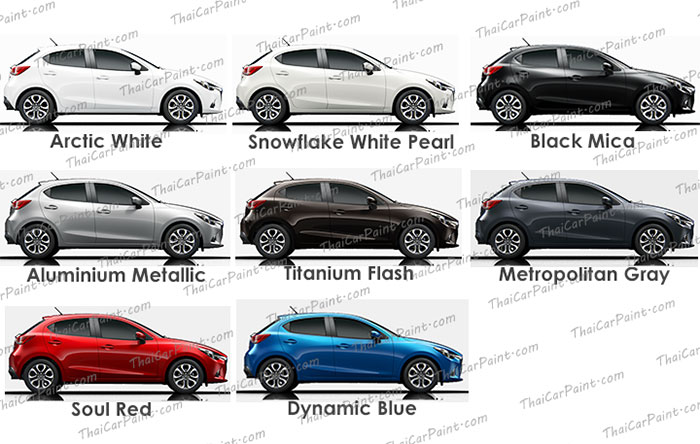 สีแต้มรถ สำหรับ Mazda 2 มาสด้า 2