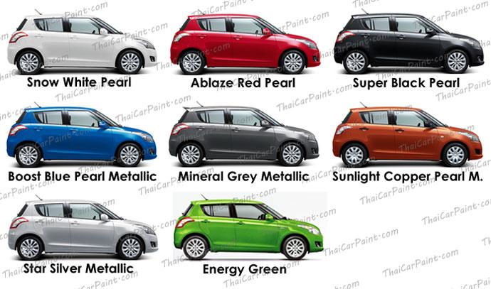 สีแต้มรถ สำหรับ Suzuki Swift ซูซูกิ สวิฟท์
